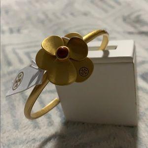 NWT Tory Burch Flower Petal Cuff Bracelet